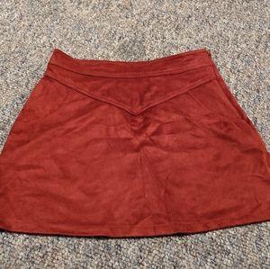 Girls velvet skirt